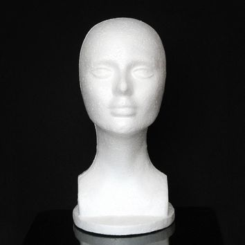 Mannequin Head Eyes Closed Model Mannequin Female Styrofoam Hat Glasses Hair Wig Mannequin Stand Display Head Model chest
