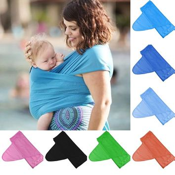 Polyester Ergonomic Baby Sling Nursing Breastfeeding Carrier Cover Wrap Backpack Pouch