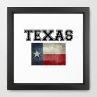 Texas flag and Text - original design by BruceStanfieldArtist Framed Art Print by LonestarDesigns2020 - Flags Designs +