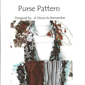 Clearance Sale 65% Off PATTERN, Rag Purse, Small Scripture Case, Children, Rag Quilt, MAILED