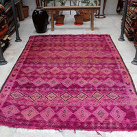 Moroccan carpet - PURPLE PINK - Berber Pile Rug - 180x270cm (70x106 inches)