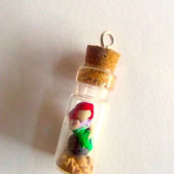 Ariel in a Jar OOAK the little mermaid disney charm