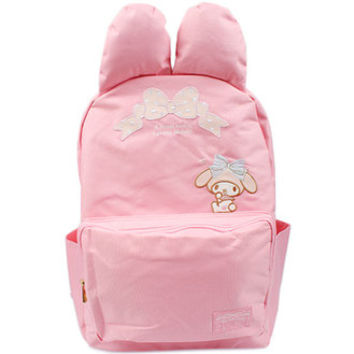 My melody day pack ribbon ☆ Sanrio fashion bag & bag accessory series ★ black cat DM service impossibility