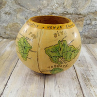 Vintage Handmade Gourd Bowl from the Marquesas Islands