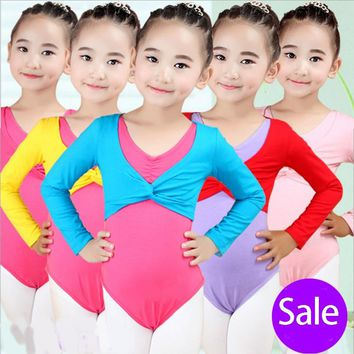 New Girl Ballet Gymnastic Leotard Jacket Long Sleeved Dance Sweater Top Coat Kids Dance Clothing Jacket Wrap Ballet