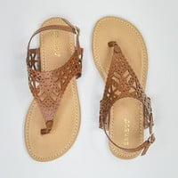 Cute and Sassy Sandals in Chestnut