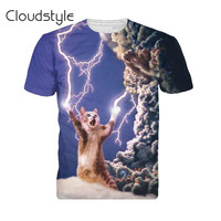 3D Printed Thunder cat T-Shirt fearless kitty cat playing with lightning t shirts.