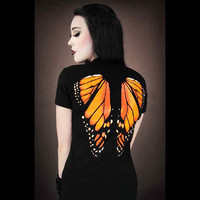 Butterfly Wings Print T-Shirt