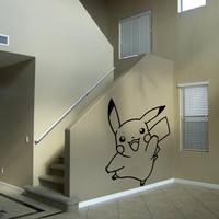 Pikachu Decal Pokemon Wall Decal Kids Room Decal Kids Wall Art Pikachu Wall Decal Sticker Bedroom Sticker Wall Art Gift Decoration 3 x 3