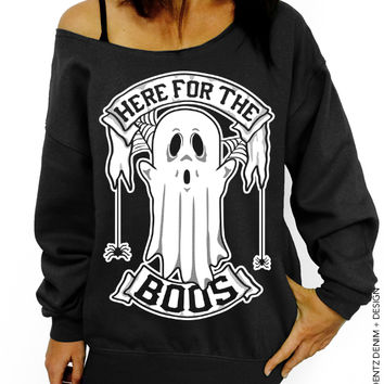Here for the Boos – Slouchy Oversized Sweatshirt