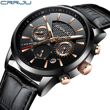 CRRJU 2018 Sports Watches Men Luxury Brand Army Military Men Watches Clock Male Quartz Watch Relogio Masculino horloges mannen