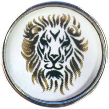 Leo Lion Face Zodiac Sign Horoscope Symbol 18MM - 20MM Charm for Snap Jewelry New Item