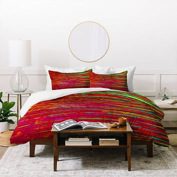 Sophia Buddenhagen Red Reflection Duvet Cover