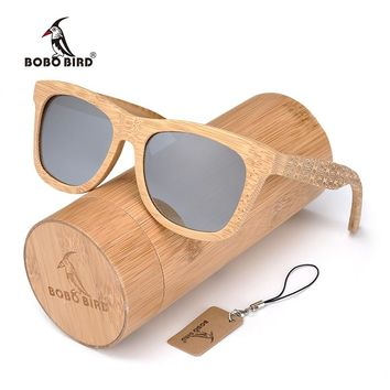 BOBO BIRD Brand Retro Bamboo Sunglasses Women And Men With Grey Polarized Lens Glasses As Best MenLuxury Gifts C-DG06a