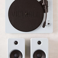 EP-33 Glossy Blue Bluetooth Turntable with Speakers - Urban Outfitters