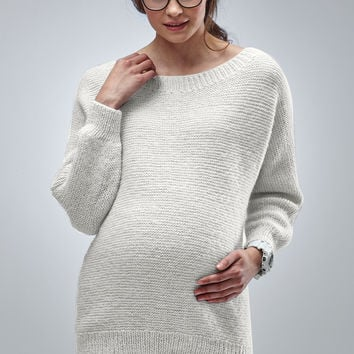 Handknitted Luxury Maternity Butter Sweater