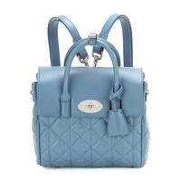 Mini Cara Delevingne quilted leather tote