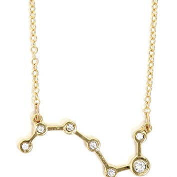 Big Dipper Constellation Necklace Gold Tone Crystal Star Chart Pendant NQ64 Fashion Jewelry