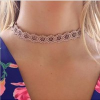 Adrianna Lacey Cut Out Choker (Free Post) - The Wild Flower Shop