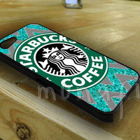 Starbucks Coffee Chevron Glitter for iphone 4/4s case, iphone 5/5s/5c case, samsung s3 i9300 case, samsung s4 i9500 case in Munafik