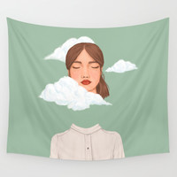 Head in the Clouds Wall Tapestry by marylobs