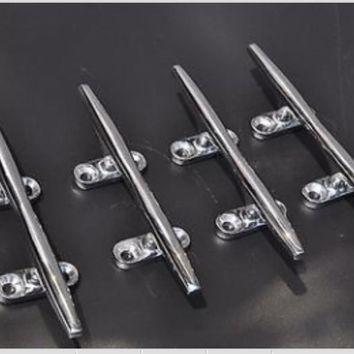 """(4pcs)stainless steel rope cleat for boat/marine 5"""" boat deck cleat"""