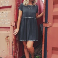 Halfway There Dress: Dusty Charcoal