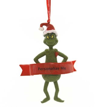 Holiday Ornaments GRINCH WITH HEART Polyresin Dr Seuss Department 56 6000306