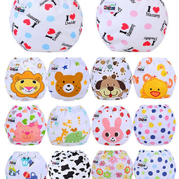 Baby Diaper Washable Reusable nappies changing cotton training pant happy cloth diaper sassy fraldas reutilizaveis NB031