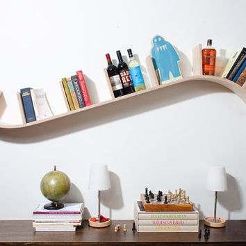 Modern Curved Bookshelf by PerfekteVelle on Etsy