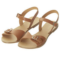 HELTER 2Part Geek Sandals - Tan