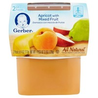 Gerber 2nd Foods Apricot with Mixed Fruit Baby Food, 4 oz, 2 ct - Walmart.com