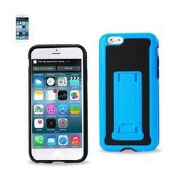 REIKO IPHONE 6 PLUS HYBRID HEAVY DUTY CASE WITH VERTICAL KICKSTAND IN BLACK NAVY
