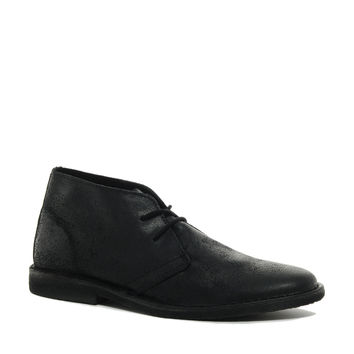 ASOS Desert Boots in Waxed Suede - black