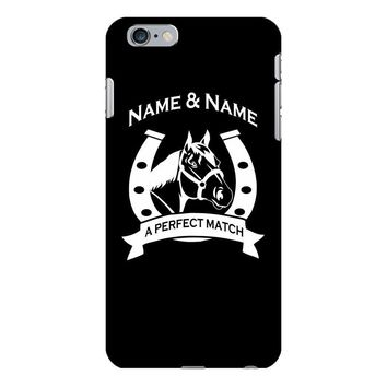 personalised pony horse and rider iPhone 6/6s Plus Case