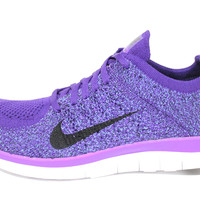 Nike Women's Free 4.0 Flyknit Purple/White Running Shoes 631050 500