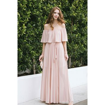 Alina Off the Shoulder Maxi Dress