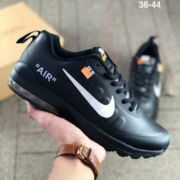 NIKE AIR MAX 97 x OFF-WHITE Joint air cushion sports and leisure running shoes black