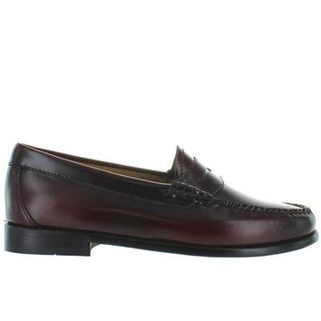 ONETOW Bass Weejuns Whitney - Cordovan Leather Classic Penny Loafer