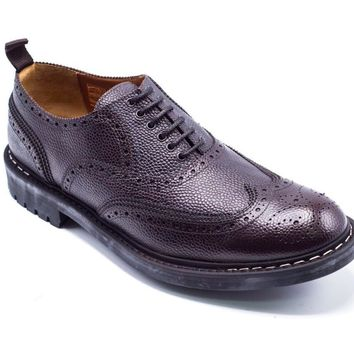 Givenchy Perforated Commando Brogues Brown Oxfords Shoes