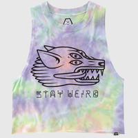 Stay Weird Crop Vest