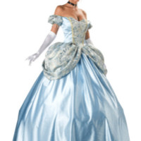 Super Deluxe Enchanting Cinderella Princess Costume - Princess Costumes