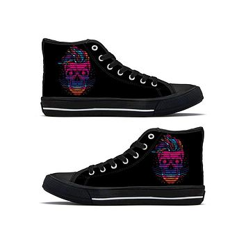 Venice Night - High Top Canvas Shoes