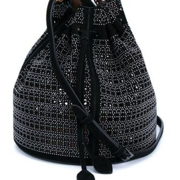 AZZEDINE ALAÏA   Studded Suede Mini Bucket Bag   brownsfashion.com   The Finest Edit of Luxury Fashion   Clothes, Shoes, Bags and Accessories for Men & Women