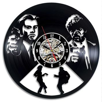 Pulp Fiction Vinyl Record Clock Wall Art Home Decor