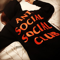 Anti Socail Socail Club 2 Colors Hoodies [9489265671]