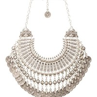 Natalie B Fit for a Queen Necklace in Metallic Silver