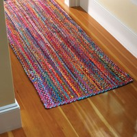 Extra Weave USA Carnivale Braided Rug, 27-Inch by 72-Inch