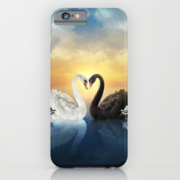 Cisnes Love iPhone & iPod Case by lostanaw