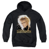 LABYRINTH/JARETH-YOUTH PULL-OVER HOODIE - BLACK -
